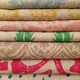 Molly by Design Block Prints onto Linen