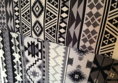 Monochrome prints onto Wool for Blankets