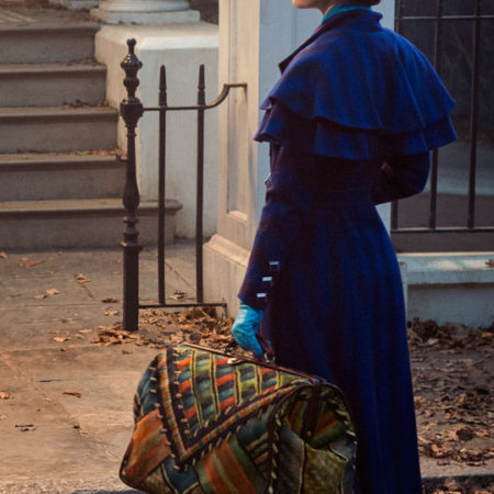 Printed Carpet Bag in Mary Poppins Returns