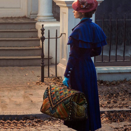 Production of the iconic carpet bag for Mary Poppins Returns